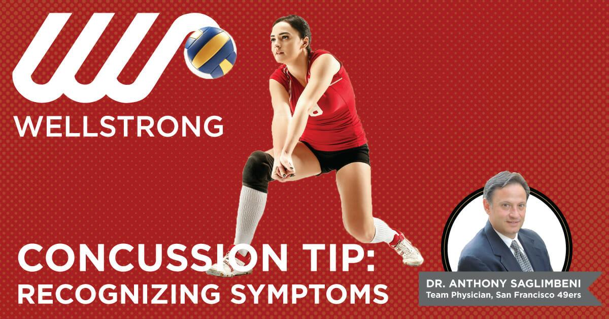 concussion tip recognizing symptoms