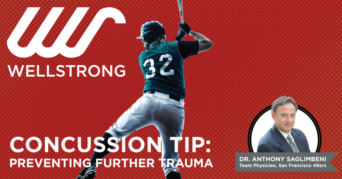 concussion tip preventing further trauma